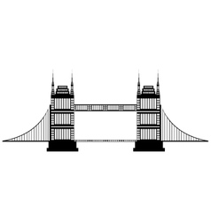 isolated tall bridge graphic vector image vector image