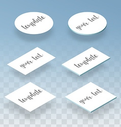 Isometric flat and realistic card template for vector image vector image