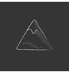 Mountain Drawn in chalk icon vector image vector image