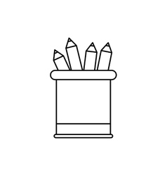 Pencils colored on vase vector