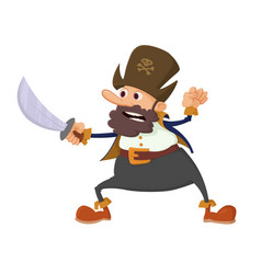 pirate cartoon character vector image