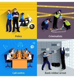 Policeman People Square Concept vector image vector image