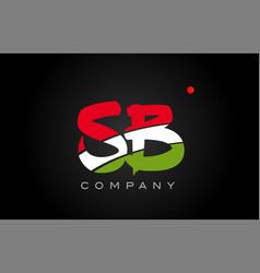 Sb s b alphabet letter logo combination icon vector