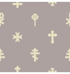 Seamless background with different crosses vector image