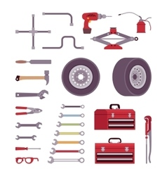 Set of car toolls vector