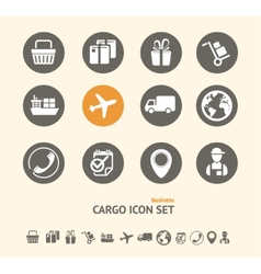 Shipping Logistics and cargo icon set vector image