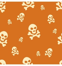 Skull Pattern Orange vector image