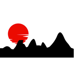 traditional japanese painting vector image