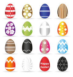 various easter eggs color design with decoration vector image vector image