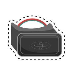 Vr glasses smart high technology design cut line vector