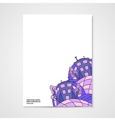 Graphic design letterhead with doodle abstract vector