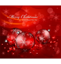 Christmas red balls background 10 ss v vector