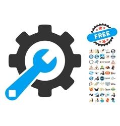 Service tools icon with 2017 year bonus symbols vector