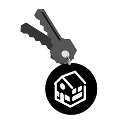 Real estate house keys vector