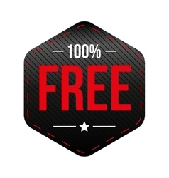 Hundred percent free vector