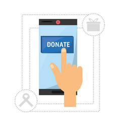 Donation support symbol to charity of the people vector