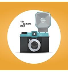 Film camera icon concept vector image