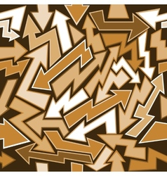 Graffiti arrows seamless background vector