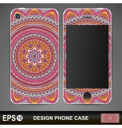 Cover phone abstract ethnic background vector