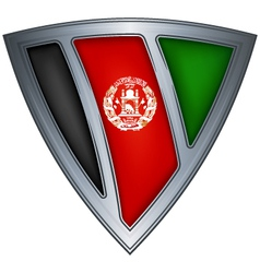 steel shield with flag afghanistan vector image