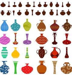 Collection of vases for your design vector