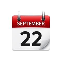 September 22  flat daily calendar icon vector