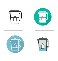 Water filter icons vector