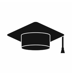 Cap student icon simple style vector