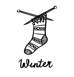 a winter lettering vector image vector image