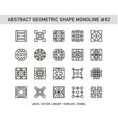 Abstract geometric shape monoline 82 vector