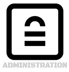 Administration conceptual graphic icon vector