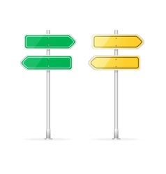 Arrow Template for text vector image vector image