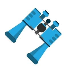Blue binoculars accesorie tourism camping design vector