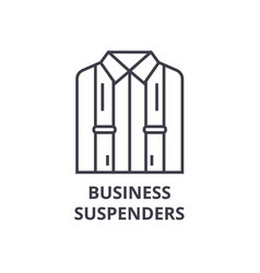 Business suspenders line icon outline sign vector