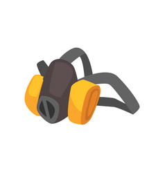 cartoon miner s protective dust mask vector image vector image