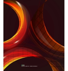 Colorful swirl abstract background vector image