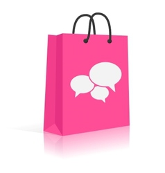 Concept shopping talks customer feedback shopping vector