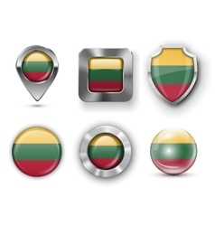 County flag bages vector