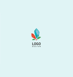 Creative geometric logo colored crystals vector