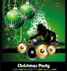 disco Christmas green vector image