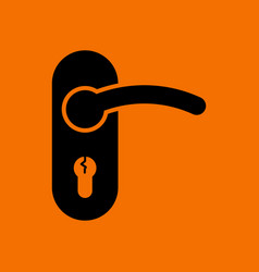 door handle icon vector image