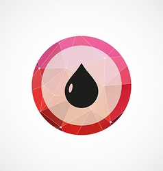 drop circle pink triangle background icon vector image vector image