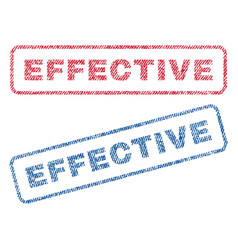Effective textile stamps vector