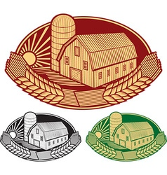 Farm label vector image vector image