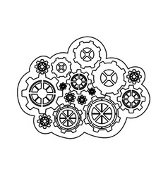 Figure gears icon image vector
