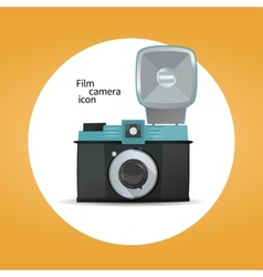 Film camera icon concept vector image