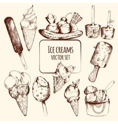 Ice cream sketch vector