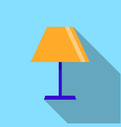 lamp icon on the blue background with long shadow vector image vector image