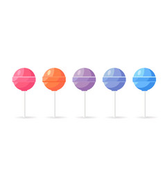 lollipops candy set isolated on white background vector image