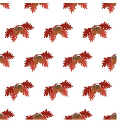 oak leaf and acorn pattern vector image